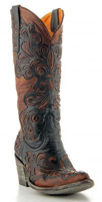 This boot really would go with ANYTHING!!!! Womens Old Gringo Linda Boots Black #L1025-2 via @Allens Boots