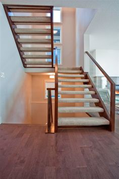 Curved Staircases with open risers - contemporary ...
