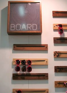 DIY sunglass holder for by the door