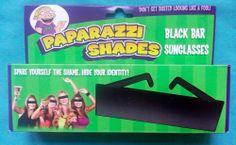 PAPARAZZI Incognito GLASSES/SHADES FaceBook Disguise
