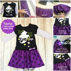How to make a T-shirt Overlay Bubble Dress