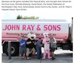 John Ray & Sons Pink Truck supports Susan G. Komen and their efforts to combat breast cancer via education, local screenings, and treatment. A portion of the proceeds from each gallon of oil delivered by the truck will benefit the Northeastern New York Affiliate of Susan G. Komen for the Cure … and create awareness of the fight against breast cancer and early detection.