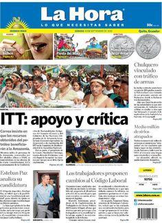 Los temas que se destacan en portada son: - ITT: apoyo y crítica - Esteban Paz analiza su candidatura - Los trabajadores proponen cambios al Código Laboral