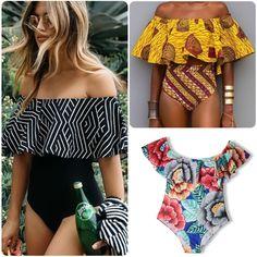 ddbeefa86ba Bikini Push Up New Wavy Lace Swimwear plus size Swimming Suit Sexy Women  Off Shoulder Swimsuit High Waist Monokini Bathing Suits