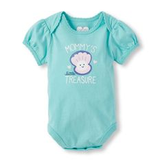 Baby Girls Short Sleeve 'Mommy's Treasure' Little Talker Bodysuit | The Children's Place