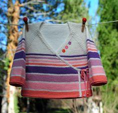 layette cache-coeur coton 3 mois neuf tricotée main : Mode Bébé par com3pom