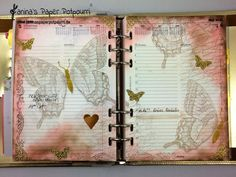 jpp - Filofax Daily Deko Swallowtail
