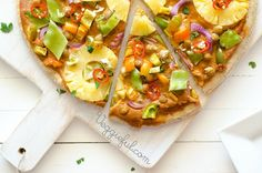 Vegan Satay Pizza  |  Add tofu, shrimp for protein