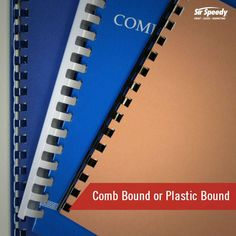 Types of Book Binding-Comb Bound or Plastic Bound