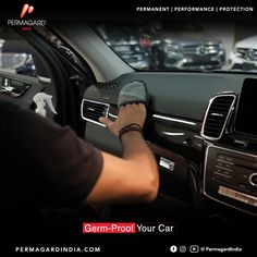 We spend our lives trying to protect ourselves from germs, but we never seem to think twice when we step into our cars.  Keeping the car's interior clean is very important as it eliminates harmful bacteria that could be lying on them that comes from the dust and dirt.  #PermagardIndia #Permagard_It #interiorprotection #cars #automotive #auto #carcare #iso14001 #breathesafe #safeair #antimicrobial #antimicrobialshield #car #delhipollution #carsindia #carhealth #protectfrombacteria Delhi Pollution, Cars, Interior, Health, Life, Indoor, Health Care, Autos, Design Interiors