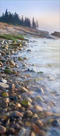 Schoodic peninsula, Maine, sunrise,  Acadia national park