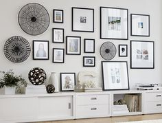 Create a Wall Gallery | Crate and Barrel. This is an awesome tutorial of sorts on how to do the gallery thing on the wall! (for maybe above the bed!)