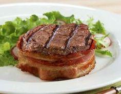 Filet Mignon Wrapped in Hickory Bacon : Kansas City Steak Company - man that looks good!!!