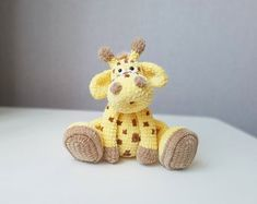 PDF Crochet Patterns by CrochetWondersDesign on Etsy Easy Crochet Patterns, Crochet Patterns Amigurumi, Crochet Toys, Giraffe Toy, Giraffe Pattern, Giraffe Crochet, Amigurumi Tutorial, Single Crochet Stitch, Sewing Basics