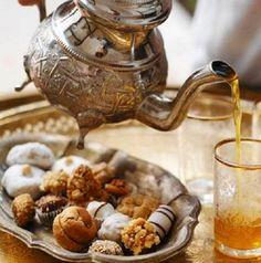 Moroccan-style tea.