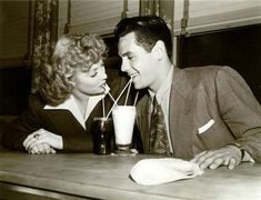 Lucille Ball and Desi Arnaz (what a sweet couple!)