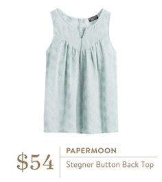 Papermoon Stegner Button Back Top