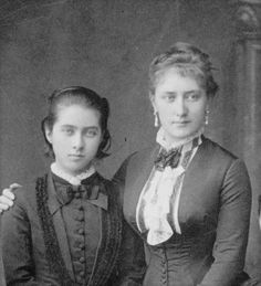 Countess Tatiana Alexandrovna de Ribeaupierre (1828 – 1879) and her youngest daughter Tatiana Yusupova