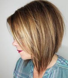 Streamlined Caramel Blonde Bob