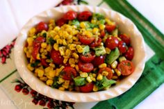 Grilled Corn, Avocado and Tomato Salad. This salad is light, fresh and is the perfect accompaniment for a sumer meal.
