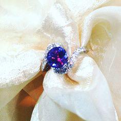 Alexandrite Ring or Engagement Ring JUNE BIRTHSTONE Full Color