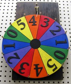 "This is how I made my 18"" x 14"" Prize Wheel           First I looked on the internet at Pinterest, You Tube and EHow for directions a..."