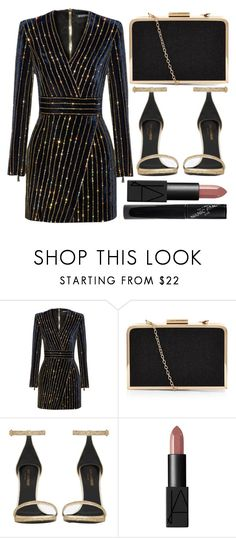 """""""street style"""" by sisaez ❤ liked on Polyvore featuring Balmain, Yves Saint Laurent, NARS Cosmetics and Manic Panic"""