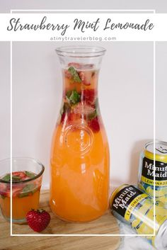 Strawberry Mint Lemonade is a refreshing way to beat the summer heat! Make the recipe, kick back, and enjoy the day.