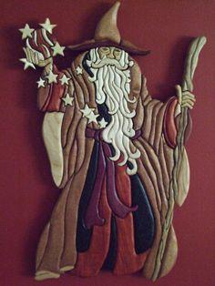 The Wizard wood intarsia