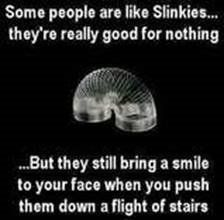 I know a lot of slinkies.