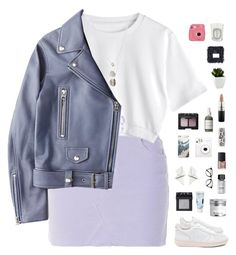 """Lilac tones"" by f-resh ❤ liked on Polyvore featuring Acne Studios, Gorjana, Veja, Korres, NARS Cosmetics, Bobbi Brown Cosmetics, Gucci, French Girl, MAC Cosmetics and Diptyque"