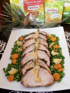 Muschi de porc cu sos de mere si legume sote - CAIETUL CU RETETE