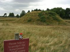 """Sutton Hoo Burial Mounds. If we called it 'The Sutton Hoo Viking Burial' we'd probably double our visitor numbers,"""" says Wainwright, laughing. """"So in the end we decided to focus on the site, while doing a major PR job for the Anglo-Saxons."""" They also had to contend with the fact that most of the actual treasure – apart from a rotating selection of objects lent each year – resides in the British Museum."""