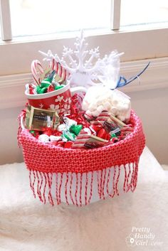 I love making my own gift baskets. They cost less than a store bought version. Plus, they don't need to be wrapped! A pair of Goodwill pants and an ugly tin bucket get the royal treatment in this spa themed gift basket: I seriously seek out the opportunity to make one whenever I can. Nothing …