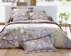 linge de lit végétal stylisé - Becquet