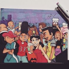 Name All Of The Cartoon Characters That You See 😜🤙🏽(Penny Proud Throwing That Ass Back Proudly While Gerald Is Hyping Up The Crowd) Black Cartoon Characters, Black Girl Cartoon, Dope Cartoon Art, Black Love Art, Black Girl Art, African American Art, African Art, Cartoon Disney, Arte Black
