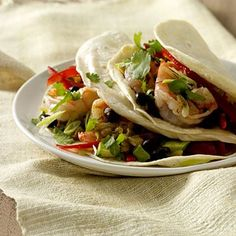 It's Taco Tuesday!! We're trying these Cilantro-Lime Shrimp Tacos. | Health.com