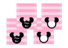 Cut Minnie Mouse thank you out and tape on jumbo marshmallow pops!