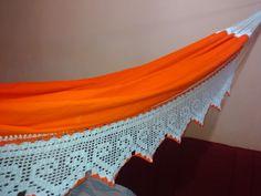 Rede Laranja com varanda de crochê