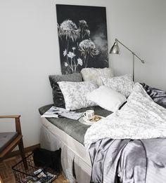 Makuuhuone - Eijan Sisustuspaja Interiors, Bed, Furniture, Home Decor, Decoration Home, Stream Bed, Room Decor, Home Furnishings, Beds