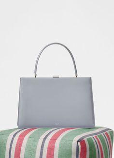 Medium Clasp bag in box calfskin with Patina | CÉLINE
