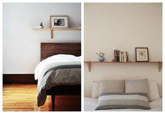 bedroom shelf inspiration