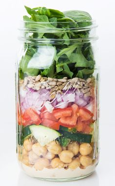 Mediterranean Salad with Quinoa Mason jar salad. Ivanka Trump Blog