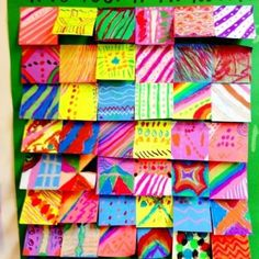 Group Art Projects, Collaborative Art Projects, School Art Projects, Arte Post It, Post It Art, Art Doodle, Ecole Art, Middle School Art, Art Lessons Elementary