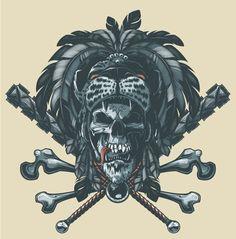 #illustration #ilustracion Jaguar Warrior by Andrey Krasnov, via Behance