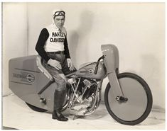 """""""Joe Petrali left racing with a bang. On March 13, 1937 at Daytona Beach, Petrali rode a specially built streamlined Harley-Davidson to a new one-mile motorcycle speed record of 136.183 mph. That record would hold for 11 years until Rollie Free finally broke the mark on a Vincent at the Bonneville Salt Flats. """""""