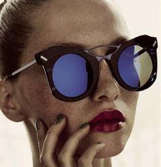 Blue reflective lenses
