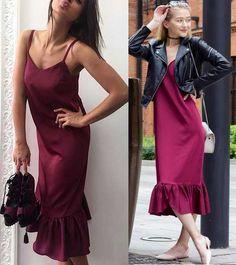платье с воланами в бельевом стиле
