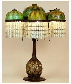 Tiffany Studios Pineapple lamp, circa 1900-1906. Via New York Historical Society.