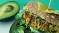 Baguette met 'Eiersalade' van Avocado & Aardappel